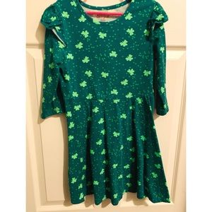 Green kids Shamrock Dress